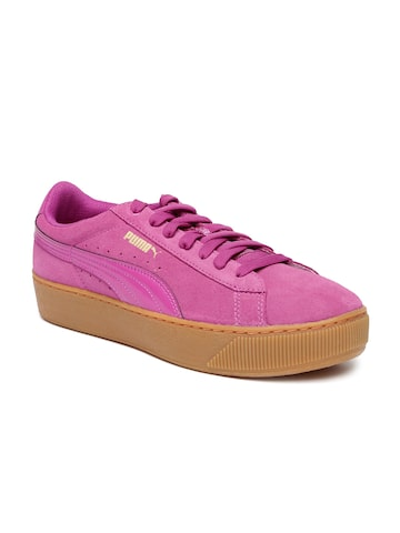 Puma Women Pink Vikky Platform Sneakers at myntra