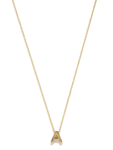 Accessorize Gold-Plated A-Shaped Pendant with Chain at myntra
