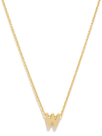 Accessorize Gold-Plated W-Shaped Pendant with Chain at myntra