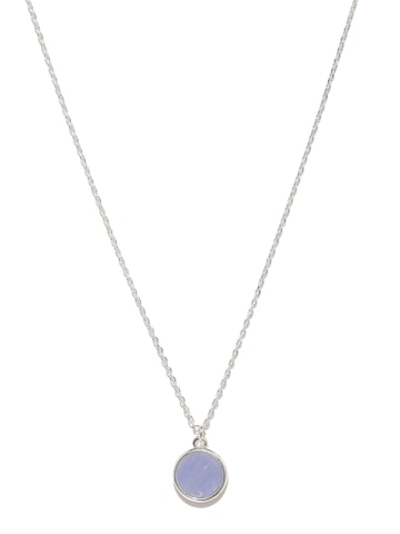 Accessorize Silver-Toned & Lavender Pendant with Chain at myntra