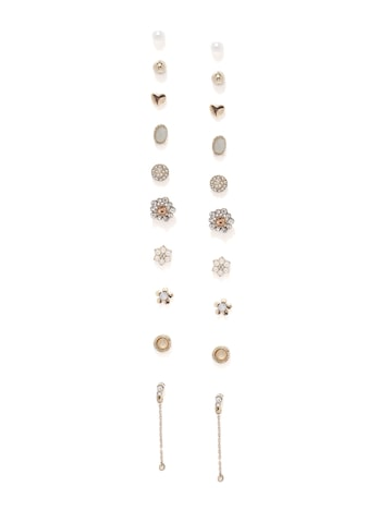 Accessorize Set of 10 Stud Earrings at myntra