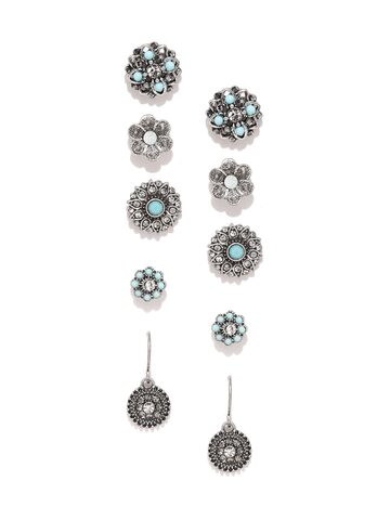 Accessorize Set of 5 Stud Earrings at myntra