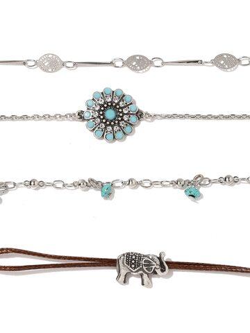 Accessorize Set of 4 Bracelets at myntra