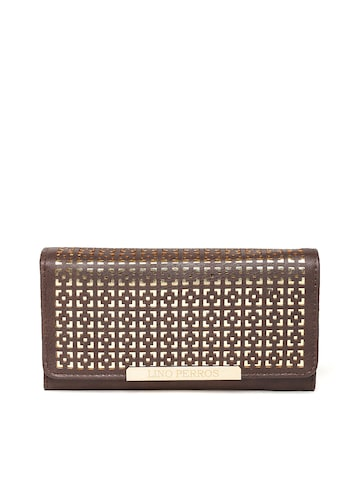 Lisa Haydon for Lino Perros Women Coffee Brown Cut-Out Wallet at myntra