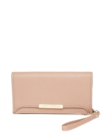 Lisa Haydon for Lino Perros Women Beige Zip-Around Wallet at myntra