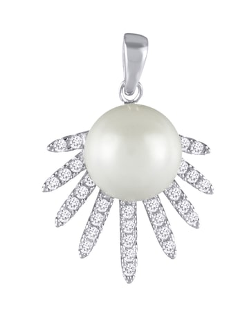 Peora Sterling Silver Ball-Shaped Rhodium-Plated Pendant at myntra