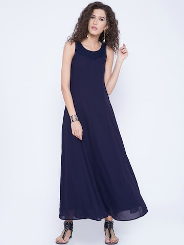 Tokyo Talkies Women Navy Maxi Dress at myntra