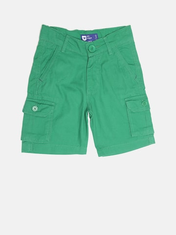 612 league Boys Green Solid Cargo Shorts at myntra