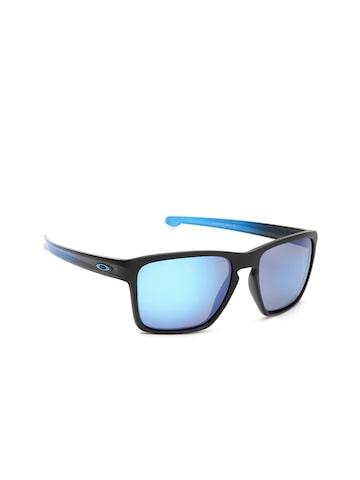 OAKLEY Men Polarised Mirrored Square Sunglasses 0OO934193411357 OAKLEY Sunglasses at myntra