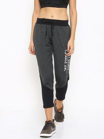 Ajile by Pantaloons Charcoal Grey Active Track Pants at myntra