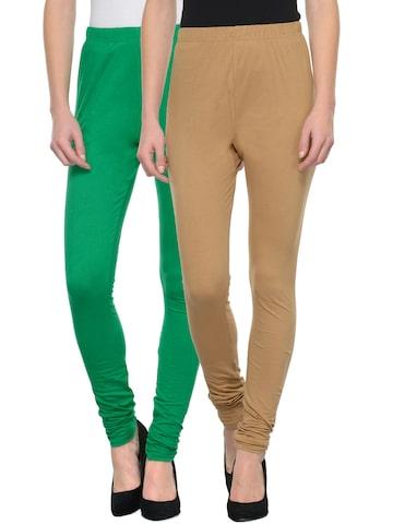 Tulsattva Pack of 2 Churidar leggings at myntra