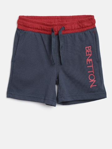 United Colors of Benetton Boys Navy Solid Shorts at myntra