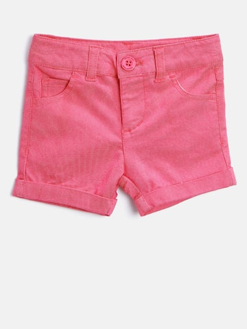United Colors of Benetton Girls Pink Solid Shorts at myntra