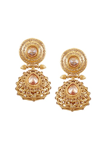 Sia Art Jewellery Gold-Plated Embellished Drop Earrings at myntra