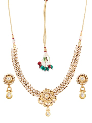 Sia Art Jewellery Gold-Plated Kundan Jewellery Set at myntra