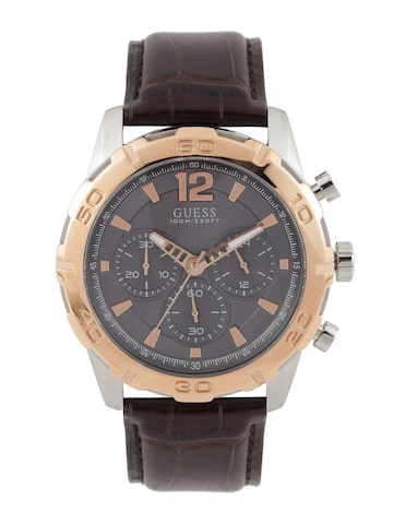 GUESS Men Grey Chronograph Watch W0864G1 at myntra