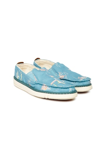 Timberland Women Blue Printed Regular Slip-On Sneakers at myntra