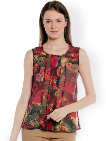 Style Quotient Multicoloured Printed Sleeveless Top at myntra