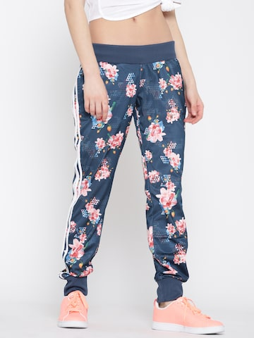 Adidas NEO Teal Blue FR AOP Floral Print Track Pants at myntra