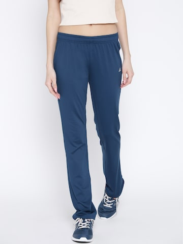 Adidas Teal Blue Workout Training Track Pants at myntra