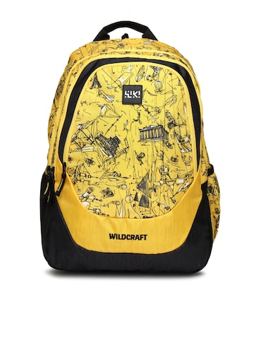 Wildcraft Unisex Yellow & Black Wiki 4 Doodle 2 Printed Backpack at myntra