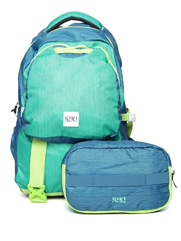 Wildcraft Unisex Green & Blue Pliant Printed Backpack at myntra