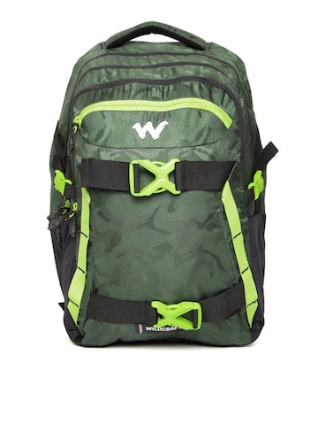 Wildcraft Unisex Green Zephyr Camouflage Print Laptop Backpack at myntra