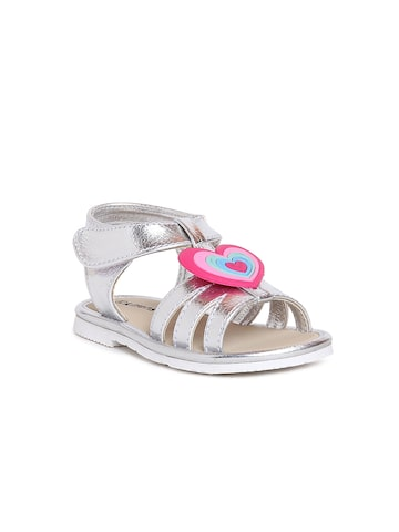 Kittens Girls Silver-Toned Sandals at myntra