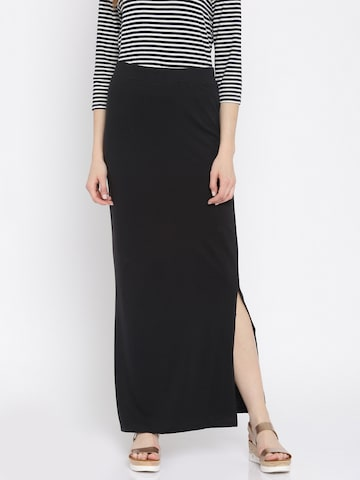 Vero Moda Black Maxi Skirt at myntra