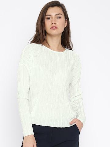 Vero Moda Women White Top at myntra