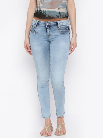 Deal Jeans Women Blue Skinny Fit Jeggings at myntra