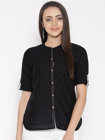 AURELIA Black Kurti at myntra
