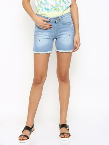 Jealous 21 Women Blue Hottie Fit Denim Shorts at myntra
