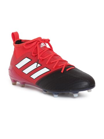 Adidas Men Red & Black ACE 17.1 PRIMEKNIT FG Football Shoes at myntra