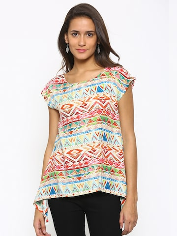 Fusion Beats Multicoloured Printed Top at myntra