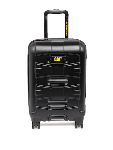 CAT Unisex Black Tank Cabin Trolley Suitcase at myntra