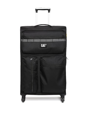 CAT Unisex Black Cube Combat Large Trolley Bag at myntra