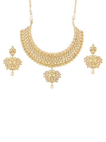 Sia Art Jewellery Gold-Toned Jewellery Set at myntra