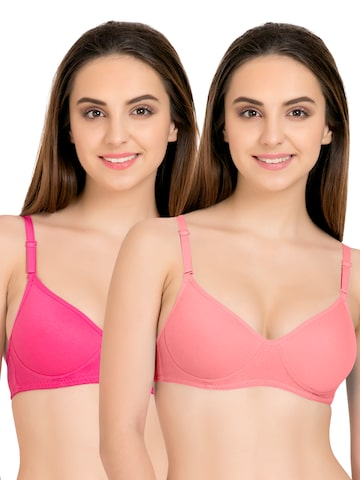 Tweens Pack of 2 Medium-Coverage T-shirt Bras TW91301CRL at myntra