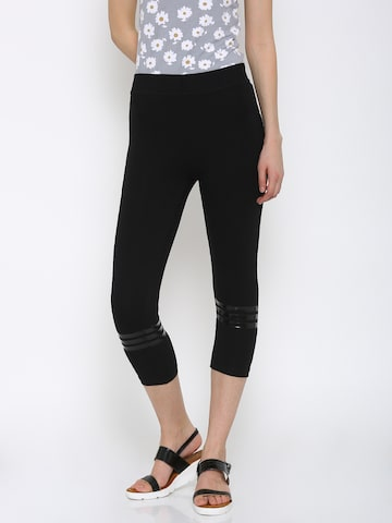 Ajile by Pantaloons Women Black Active Capris at myntra
