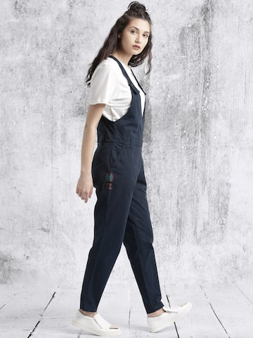 Roadster Women Navy Dungarees at myntra