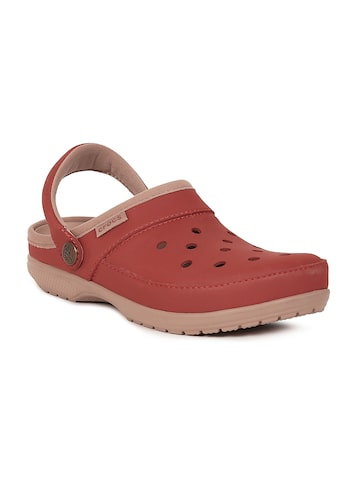 Crocs Unisex Rust Brown ColorLite Clogs at myntra