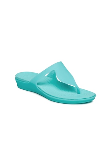Crocs Women Blue Rio Flip-Flops at myntra