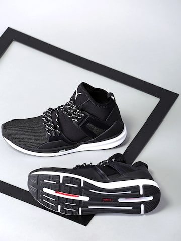 Puma Men Black B.O.G Limitless High-Top Sneakers at myntra