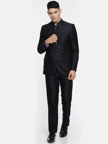 Raymond Men Navy Contemporary Fit Bandhgala Suit Raymond Suits at myntra
