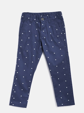 United Colors of Benetton Boys Navy Printed Trousers at myntra