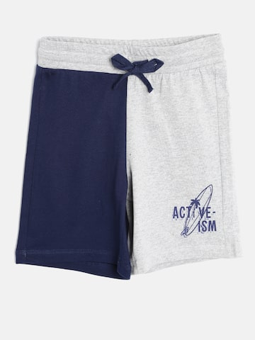 United Colors of Benetton Boys Grey Melange Colourblocked Shorts at myntra