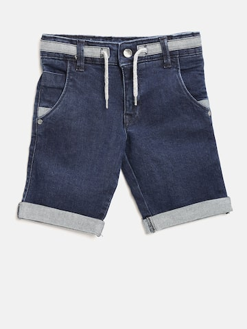 United Colors of Benetton Boys Navy Denim Shorts at myntra