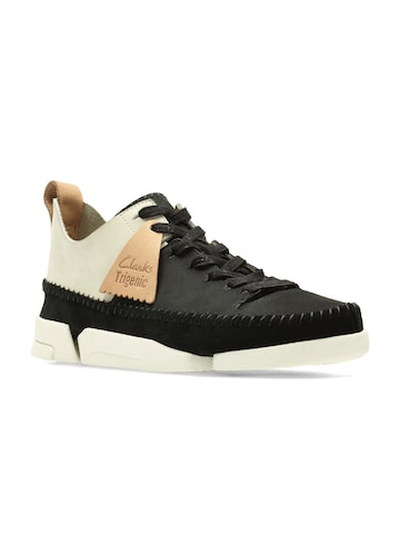 Clarks Women Black Colourblocked Mid-Top Sneakers Clarks Casual Shoes at myntra