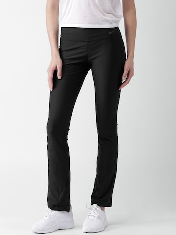 Nike Black Skinny Fit Training AS W NK PWR Track Pants at myntra